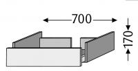 Sanipa Waschtischunterschrank mit Auszug 2morrow MT30035, Pinie-Schwarz