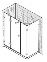 HSK Atelier Pur AP.29 Drehtür an Nebenteil und Nebenteil und Seitenwand
