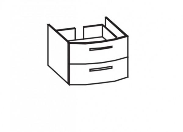 Artiqua 211 Waschtischunterschrank, Weiß Hochglanz, 211-WU2L-1-70-7016-68