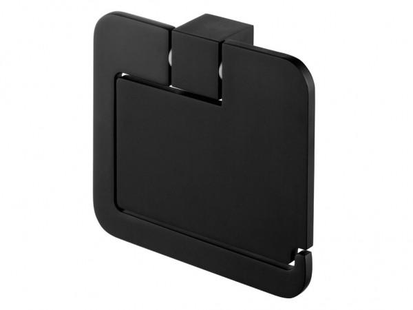 Neuesbad Futura black Papierhalter mit Deckel, Farbe: schwarz matt