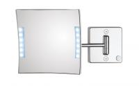 KOH-I-NOOR Quadrololed 61/1 Vergrößerungsspiegel mit LED 3-fach, 20x20 cm mit einfacher Arm