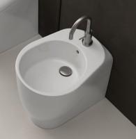 Axa one Serie Normal Stand-Bidet mit 1 Hahnloch, B: 350, T: 480 mm, weiss glänzend
