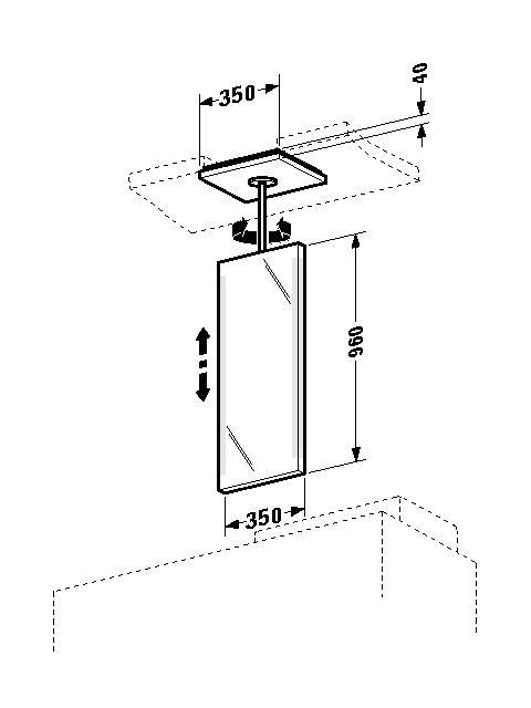 Spiegelelement 2nd floor 350x350mm 2F964208585