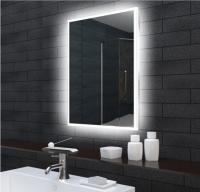 Neuesbad LED Lichtspiegel mit Beleuchtung 1600 Lumen und lichtleitendem Acryl-Rahmen, B:800, H:600,