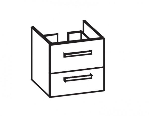 Artiqua 414 Waschtischunterschrank für Vivia 4117A5 Weiß Hochglanz Select, 414-WU2L-V161-7160-125