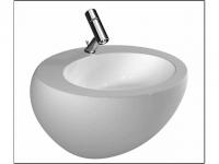 Laufen Waschtisch Il Bagno Alessi One 600x525, 1 Hahnloch mittig,weiß mit LCC, 8109724001041