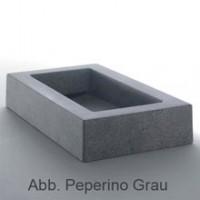 Globo Le PIETRE Aufsatzwaschtisch 70 x 41 x 13 cm, Ardesia Stein Oberfläche, Schwarz