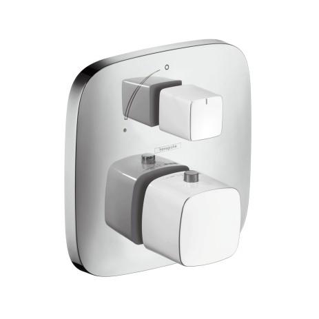 Hansgrohe Thermostat Unterputz PuraVida F-Set weiss/chrom m.Absperrventil, 15775400