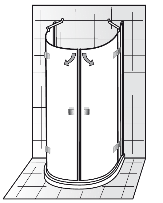 halbkreis dusche sonstige preisvergleiche. Black Bedroom Furniture Sets. Home Design Ideas