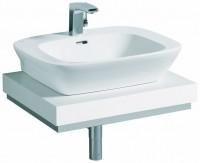 Keramag Waschtischplatte Silk 816660, Siphonausschnitt mittig, B: 600, H: 100, T: 470 mm, 816660000