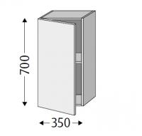Sanipa Cubes mit Tür CU12137, Eiche Nebraska