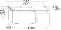 Burgbad Keramik-Waschtisch und Waschtischunterschrank YSO PG1 Matt Hellrot Matt /Alpinweiss, SFAD121