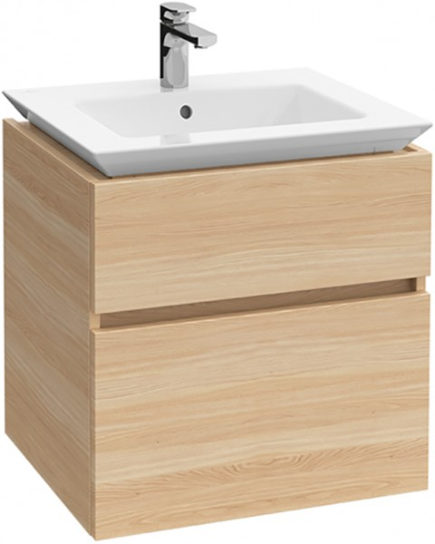 Villeroy & Boch Waschtischunterschrank Legato B289 600x590x500mm Waschtisch mittig Glossy White, B28