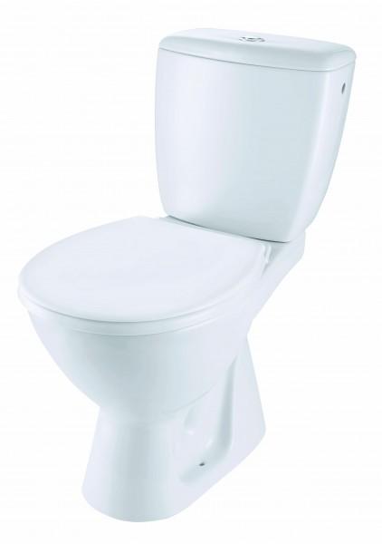 Neuesbad Basic plus Stand-WC-Kombination Komplettset, Abgang waagerecht