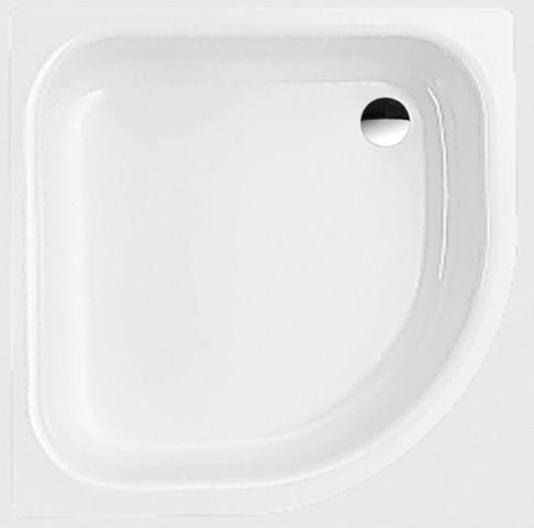 Bette 1/4-Kreis-Duschwanne Corner 8900, 80x80x6,5 cm mit Schürze weiß, 8900-000