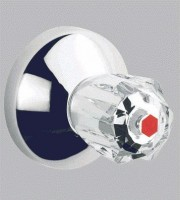 GROHE UP-Ventil-Oberbau Atlanta 19831 T:20-80mm Brillant-Griff Mark. rot chrom
