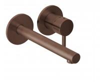 Herzbach Design iX Wandbatterie UP Farbset 2 Blenden rund Ausladung 210mm Copper, 21.139545.1.39