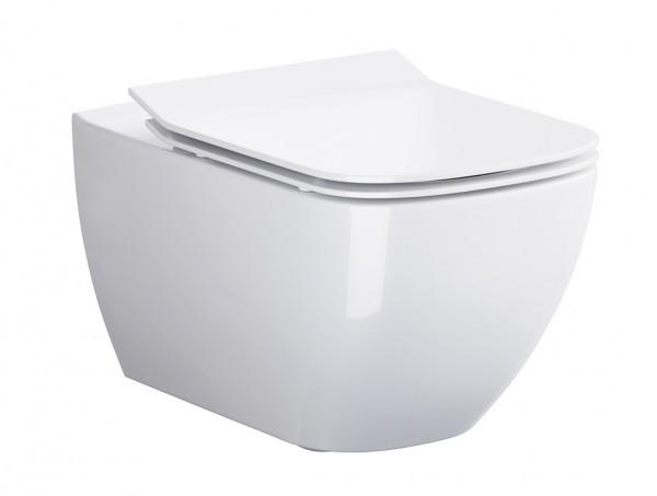 Neuesbad Serie 200 Wand-Tiefspül-WC spülrandlos (rimless), weiss mit Beschichtung, B:360, T:555mm