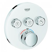 Grohe THM Grohtherm SmartControl 29904 rund FMS 3 Absperrventile moon white, 29904LS0