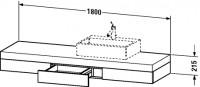 Duravit Konsole mit Schubkasten Fogo T:550, B:1800, H:215mm, FO85330