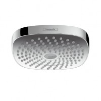 Hansgrohe Kopfbrause Croma Select E 180 2jet EcoSmart weiss/chrom, 26528400