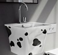 ArtCeram Cow Waschtisch/Aufsatzwaschtisch, B: 450, T: 450, H: 425 mm, mucatto Dekor