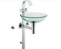 Kludi Waschtischsäule für Gäste-WC JOOFeinbauset chrom/Glas/transparent