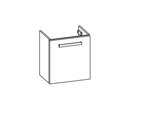 Artiqua 411 Waschtischunterschrank für Vero Air 072450, Sanremo Eiche quer NB, 411-WUT-D76-L-7144-42