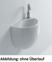 Axa one Kilo Waschtisch, B: 400, T: 310, H: 390 mm, weiss, mit 1 Hahnloch, ohne Überlauf