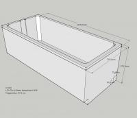 Neuesbad Wannenträger für Bette Select 1700x750 FE re./Übl. vo+hi