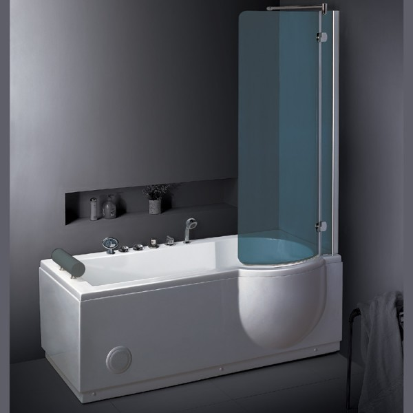 Duschbadewanne whirlpool  Neuesbad TS Duschbadewanne Whirlpool 168x 85, mit Duschabtrennung ...