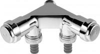 GROHE WAS-Doppelventil Einfach 41022 Design-Gr. DN15 m. RV chrom