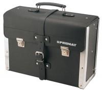 NORDWEST Handel AG WerkzeugtascheB.420xT.160xH.300mmaus Rindleder schwarzm.Mittelw. Alu-verstärkt,