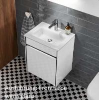 Sanipa Twiga Glas Waschtisch-Set mit Auszügen u. LED SY23017 Ulme Impresso 595,0x515,0x395,0