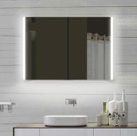 Neuesbad Alu LED Spiegelschrank, Lichtfarbe wählbar, B:1000, H:700 mm