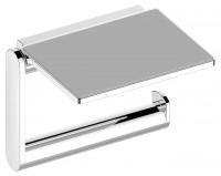 Keuco Toilettenpapierhalter Plan 14973, mit Ablage, Edelstahl-finish, 14973070000