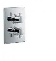 HSK Unterputz-Thermostat Eckig, mit Absperrventil, chrom