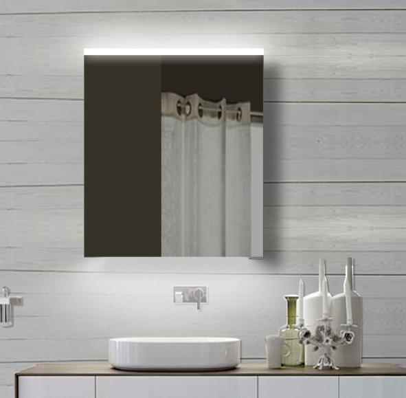 Neuesbad Alu LED Spiegelschrank, Lichtfarbe wählbar, B:600, H:700 mm