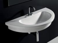 Axa one Kart Waschtisch/Einbauwaschtisch/Aufsatzwaschtisch, B: 860, T: 430 mm, weiss