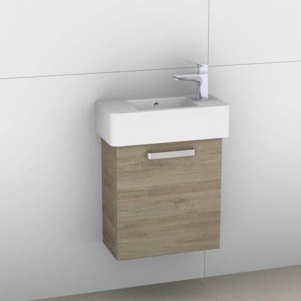 Artiqua 411 Waschtischunterschrank für Vero 070350, Sanremo Eiche quer NB, 411-WUT-D28-L-7144-428