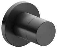 Keuco Absperrventil IXMO Pure 59541, rund, Schwarzchrom gebürstet, 59541130001