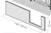 HSK Dobla Frontschürze, 160cm, für Einstieg links, 540162