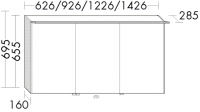 Burgbad Spiegelschrank Cala 2.0 HGL 695x926x285 Cala 2 Lack HGL, SEPY093PN283