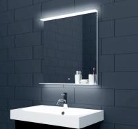 Neuesbad LED Lichtspiegel mit Touch Schalter und Glasablage, B:800, H:750 mm