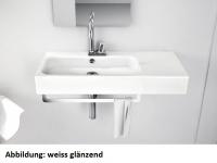 ArtCeram Block Waschtisch / Aufsatzwaschtisch, B: 900, T: 410 mm, schwarz / weiss Dekor