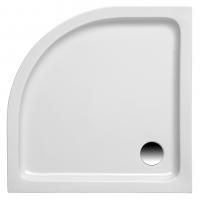 Brausetasse Kraton 800x800x60 mm, weiß (Radius 550 mm)