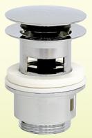 Design-Schaftventil rund mit Verschluss Klick-Klack, mit Überlauf und großem Stopfen, D=65 mm x 1 1/