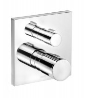 Keuco Thermostatbatterie Edition 11 51174, Ab-u.Umstellventil, UP,Schwarzchrom pol., 51174120182
