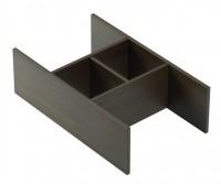 Emco asis Schubladeneinsatz, 422 x 130 x 252mm, nussbaum, 958151010