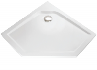 HSK Acryl Fünfeck-Duschwanne super-flach 100 x 100 x 3,5 cm, ohne Schürze